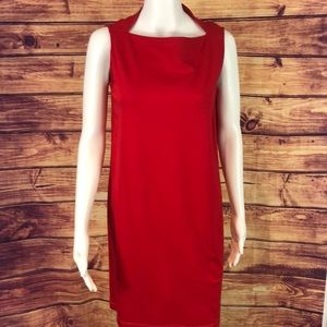 Kate Spade Red Sleeves Notch Neck